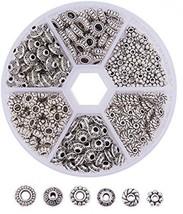 Pandahall Elite1 BOX 300 PCS Assorted Tibetan Silver Spacer Beads Jewelr... - $27.89