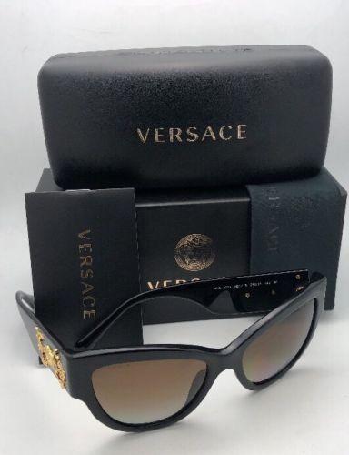 Polarizados Versace Gafas de Sol Ve 4322 GB1/T5 55-17 140 Negro-Dorado +