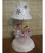 KOHL'S SNOWMAN SNOWBELL TEA LIGHT PILLAR CANDLE HOLDER  CHRISTMAS WINTER... - $14.69