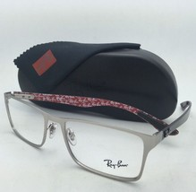 New RAY-BAN Rx-able Eyeglasses RB 8415 2538 55-17 Silver Frames w/ Carbon Fiber
