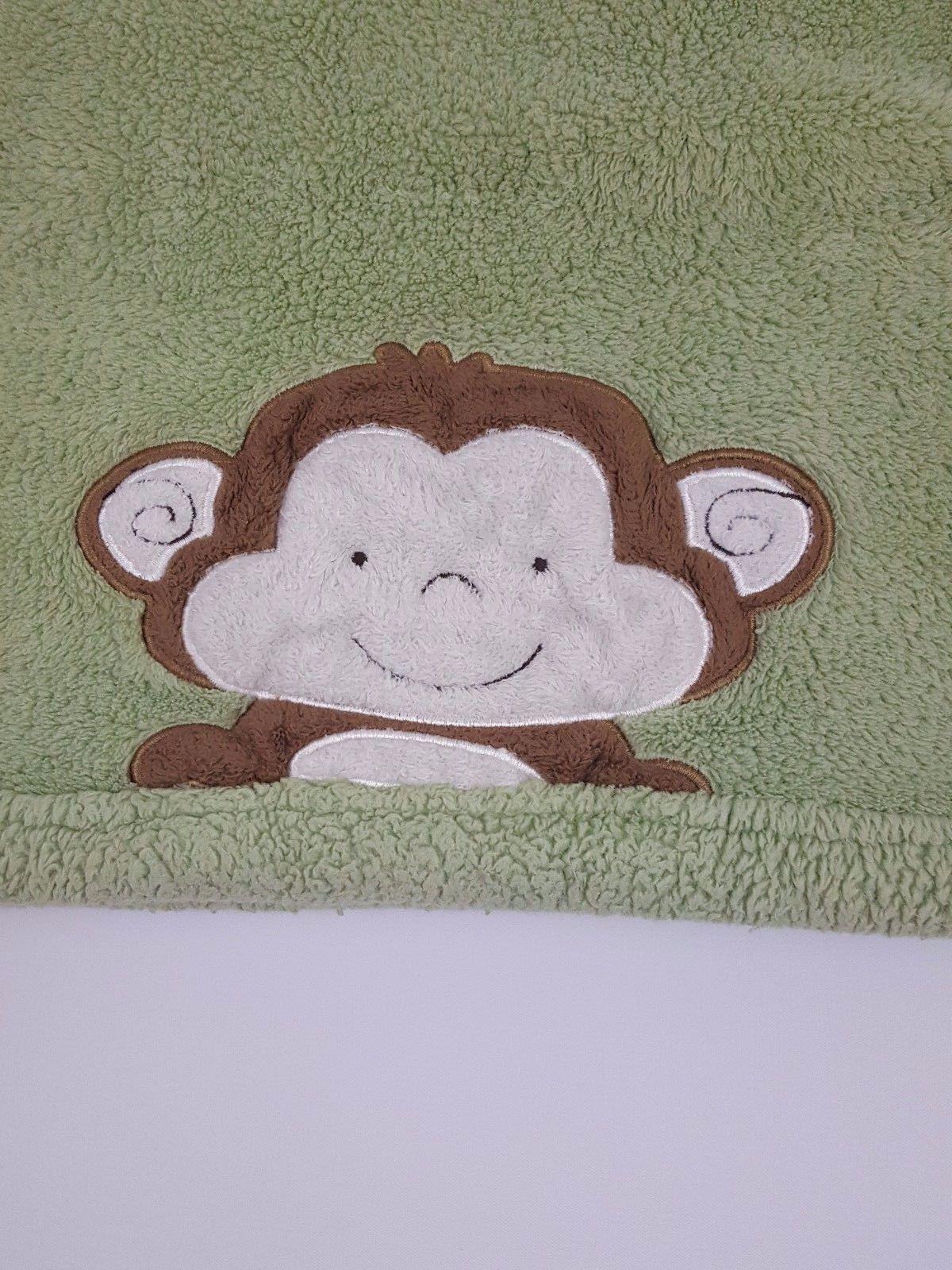 Tiddliwinks Monkey Green Blanket Brown Kidsline Baby Lovey Security 30 x 40