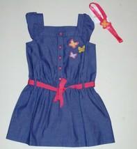Gymboree Girls Chambray Butterfly Dress Headband Size 4 NWT - $16.83
