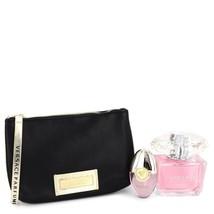 Versace Bright Crystal Perfume 3.0 Oz Eau De Toilette 3 Pcs Gift Set image 2