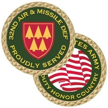 "ARMY 32ND AIR AND MISSILE DEFENSE  COMMAND  1.75"" CHALLENGE COIN - $17.14"
