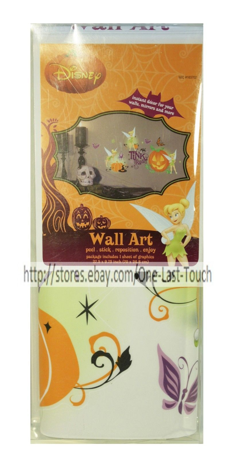 DISNEY Peel+Stick WALL ART Reposition Graphics HALLOWEEN Stickers *YOU CHOOSE*