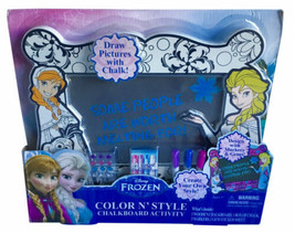 Disney Frozen Color N' Style Chalkboard Activity Playset 2015 Tara Toys - $15.88
