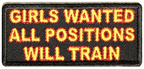 Girls Wanted All Positions - Will Train Patch - 3x1.5 inch