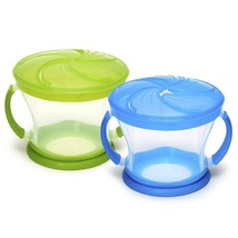 Munchkin 2 Piece Snack Catcher Baby Toddler Feeding Cup Dish Utensil BPA... - $16.67