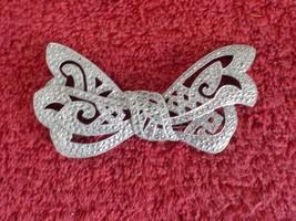 """3.25"""" x 1.75"""" silver & rhinestone bow brooch  (JQ) - $3.99"""