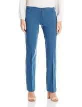Anne Klein Women's 5 Pkt Flare Leg Compression Dress Pant 4 Juniper Blue... - $17.42
