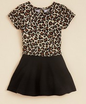 Bloomie's Girls' Leopard Print Dress, Tan - Black, Size 2T, MSRP $48 - $21.77