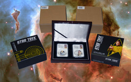2015 Star Trek Proof  Silver 2 Coin Set Signed By William Shatner NGC PF70UC ER image 2