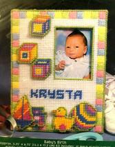 Bucilla Fun Frames Babys Birth Three Dimensional Plastic Canvas Frame Kit 33774 - $27.41