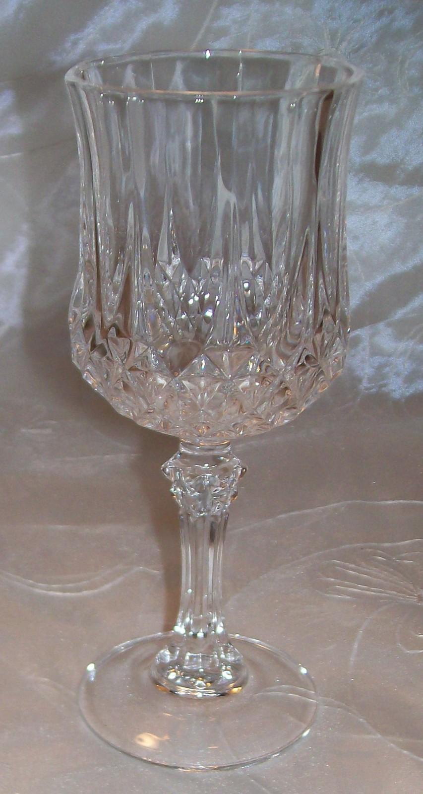 cristal d 39 arques crystal stemware longchamp wine glass 6. Black Bedroom Furniture Sets. Home Design Ideas