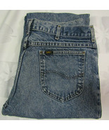 Vintage Lee Riders 36 X 32 Mens Blue Jeans Stone Wash Made In USA 34 X 30 - $24.99