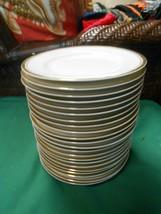 """Great Sheffield Regency Gold Porcelain Set Of 22 BREAD-SALAD-DESSERT Plates 6"""" - $44.14"""