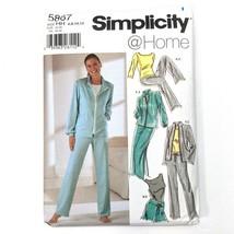 Simplicity 5867 Sewing Pattern Lounge Wear Sz 6-12 Top Jacket Skirt Shor... - $12.19