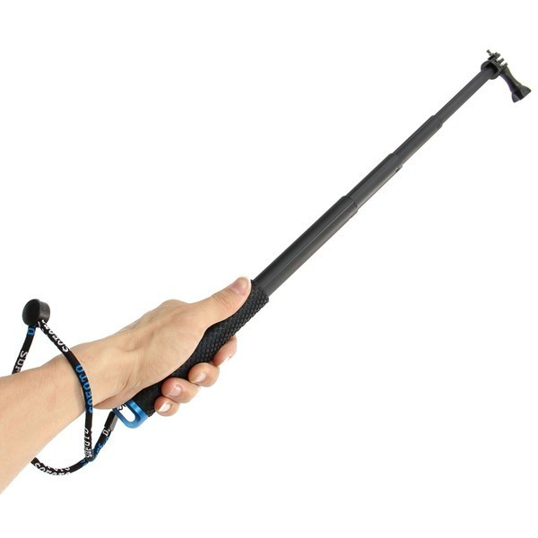 Used, Extendable Telescopic Monopod Selfie Pole Stick for Gopro Hero 4 3 Plus 3 2 Came for sale  USA