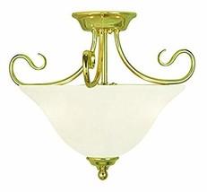 Livex Lighting 6121-02 Coronado 2 Light Ceiling Mount, Polished Brass - $172.36