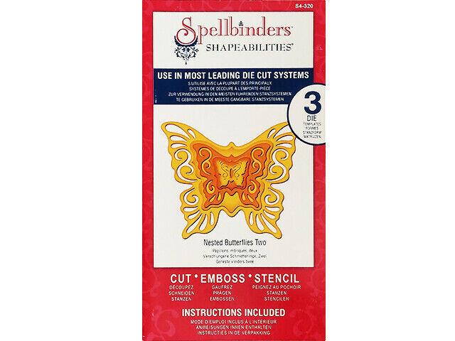 Spellbinders Shapeabilities Nested Butterflies Two Dies #S4-320