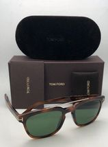 New TOM FORD Sunglasses HOLT TF 516 53N 54-19 145 Tortoise & Gold w/Green Lenses image 3