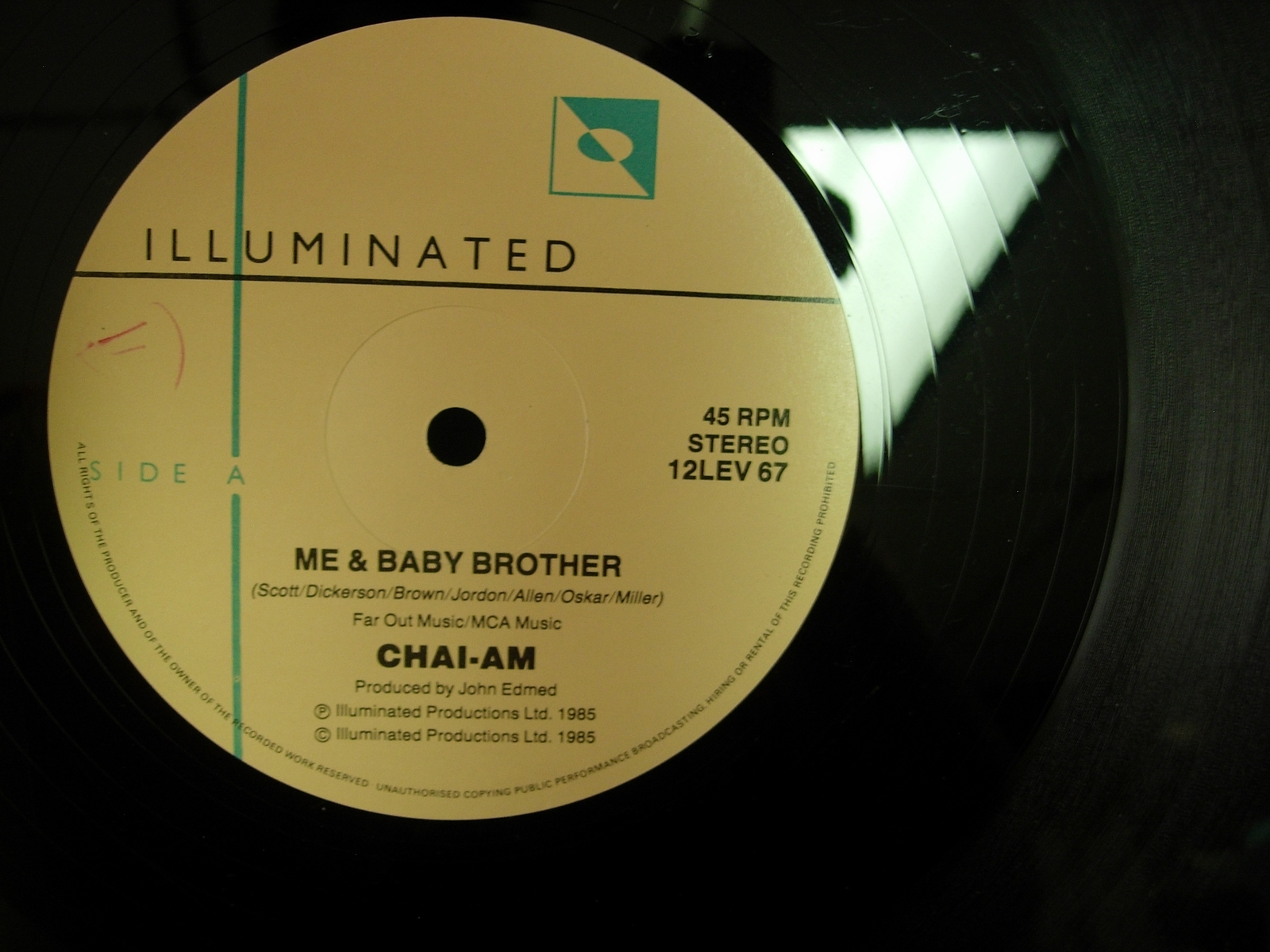 """Chai-Am ~Me and Baby Brother - Illuminated 12LEV67 - 12"""" Single"""