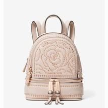 NWT Michael Kors Rhea Mini Rose Studded Leather Backpack Soft Pink - $172.63
