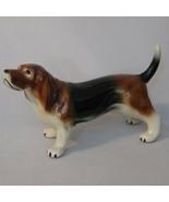 "Basset Hound Dog Figurine Porcelain Hound Dog 9 1/2"" - £10.67 GBP"