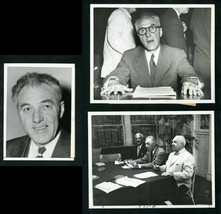 (3) FORD FRICK 1950's NL President/MLB Commissioner Type 1 Original News Photos - $19.75