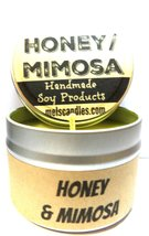 Honey & Mimosa 4oz All Natural Soy Candle Tin (Take It Any Where) Great ... - €5,91 EUR
