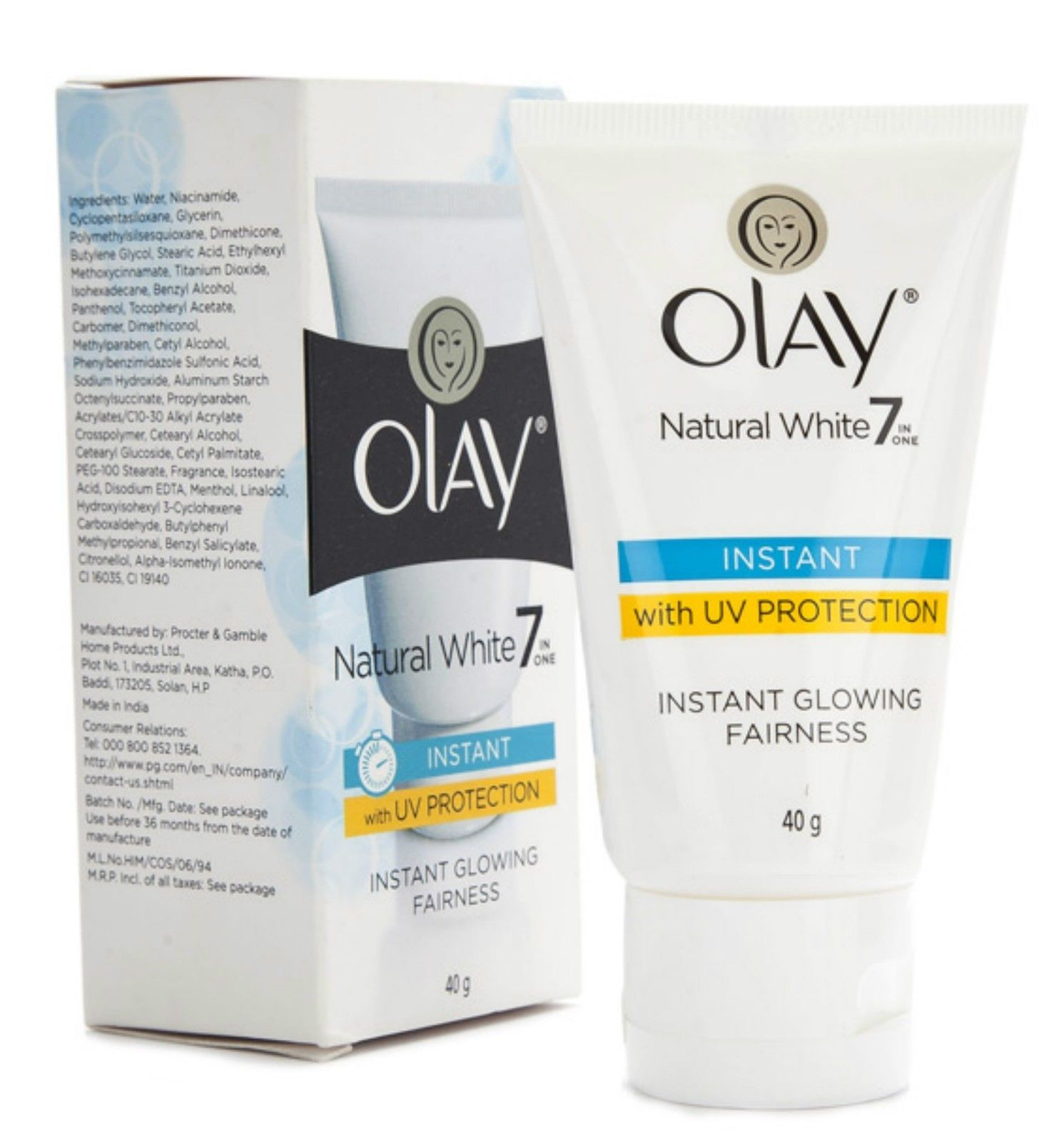 Olay Natural White  Instant Glowing Fairness Cream, 40gm