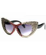 2018 Oversized Sunglasses Women Brand Designer Luxury Bling Rhinestone G... - $29.99