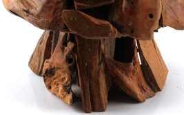 ARTISAN MADE FOLK TEAK WOOD MOSAIC MUSHROOM SCULPTURE POP ART MID CENTURY DECO image 4