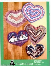 Heart to Heart rag rug patterns OOP crochet and/or rugpoint - see pics - $8.86
