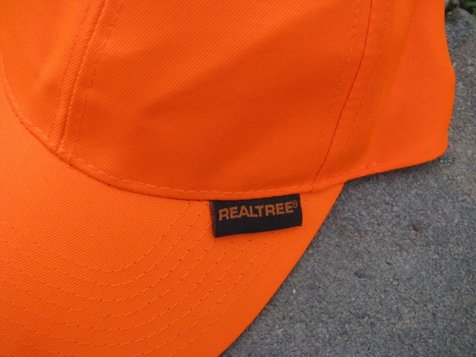 VTG Baseball Cap REALTREE ORANGE PLain no design trucker hat
