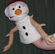 "MADE TO ORDER: Professional ""Snowman"" Muppet Style Ventriloquist Puppet - $40.00"