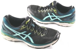 Asics GT 2000 Running Shoes Size 8.5 Womens Black Teal Athletic Sneakers - $15.53