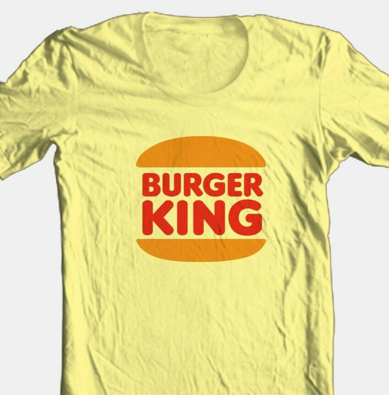 Burger King T-shirt Free Shipping retro 80s fast food 100% cotton graphic tee