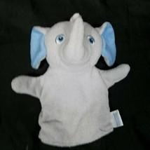 Garanimals Gray Elephant Blue Ears Baby Child Bath Mitt Hand Puppet Plus... - $14.84