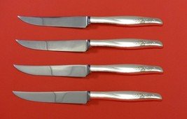 "Sea Rose by Gorham Sterling Silver Steak Knife Set 4pc HHWS  Custom Made 8 1/2"" - $247.10"
