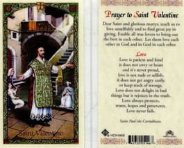 Prayer to Saint Valentine Card EB562 - Love is Patient Kind Protects Per... - $2.79