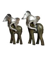 Beautiful Side Face elephant  Set Indian Home Decor item Indian Iron Han... - $86.99