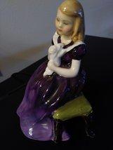 "Royal Doulton "" AFFECTION"" 1964  Bone China Figurine Girl Rabbit HN 2236  Made i image 2"
