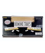 Fundex Solid Wood Domino Trays Box of 4 Mexican Train Open Box  - $9.79