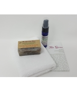 NATURAL ANTI ACNE KIT Cleanser Cleansing Soap Microdermabrasion Cloth Lo... - $24.95