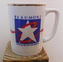 """Beaumont Texas Sesquicentennial Mug 3.75"""" 1837 - 1987 - $15.00"""