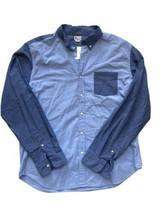 NWT J Crew Sunwashed Oxford Shirt Blue Chambray Men Xl Button Down L/S - $24.74