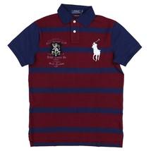 Polo Ralph Lauren Mens Custom Slim Fit Big Pony Polo Shirt Red Navy XXL - $89.95