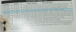 Sloan A38A Water Closet Flushometer Repair Kit Traditional Segment Diaphragm image 3