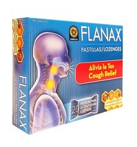 Flanax Lozenges Cough Relief 20 Units - Alivio para la tos - $7.63+